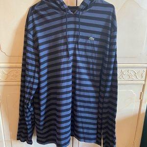 Men's Lacoste cotton long sleeve hoodie